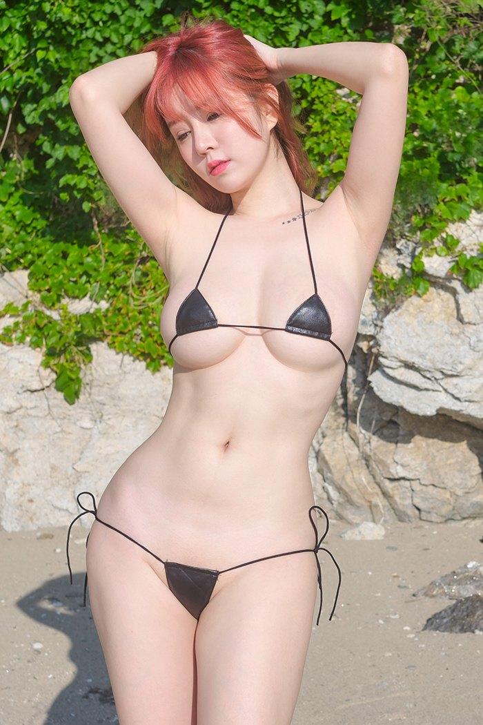 沙滩女郎王雨纯白嫩娇体妩媚至极